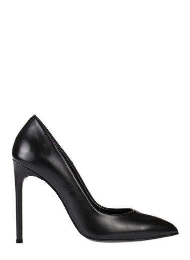 Pier Lucci Deri Topuklu Ayakkabı Siyah